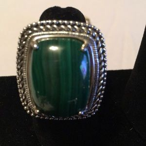 Hilary Joy Malachite Sterling Silver Oxidized Ring